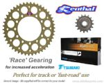 RACE GEARING: Renthal Sprockets and GOLD Tsubaki Alpha X-Ring Chain - Triumph Daytona 675R (13-16)